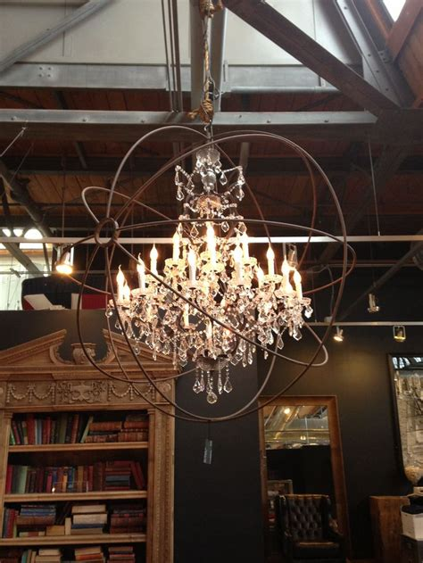 Industrial Chic Chandelier Stylish Patina Interiors Luxe Market Virginia Dc Maryland Vintage Furniture