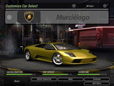 Underground Lamborghini Need For Speed Underground 2 Lamborghini Murcielago Nfscars