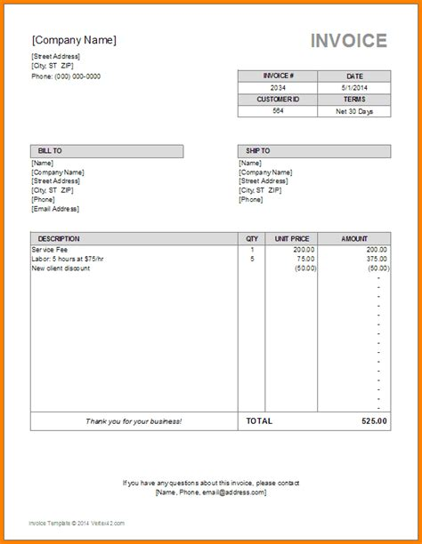 9 Furniture Shop Bill Format Simple Bill Furniture Invoice Template