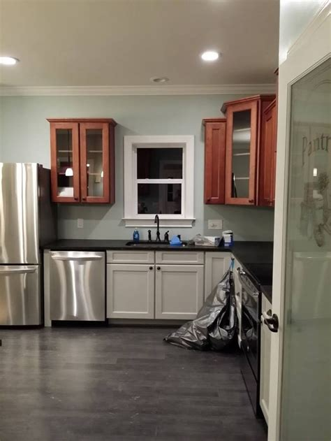 cherry kitchen cabinets kitchens with grey floors kitchen my kitchen gray and cherry cabinets ubatuba leathered