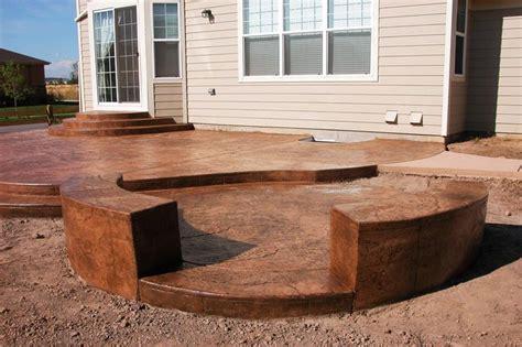 poured concrete patio poured concrete patio outdoor patio