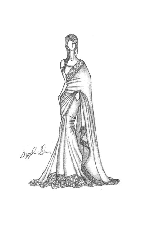 fashion illustration in saree 25 best images about indian sketching on