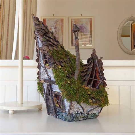 Wooden Nightstand Handmade Rustic Wooden Fairy House Candle Holder Gadgetsin