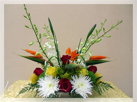 tropical flower arrangements florist palm gardens