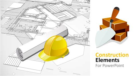 construction powerpoint presentation templates construction elements powerpoint shapes