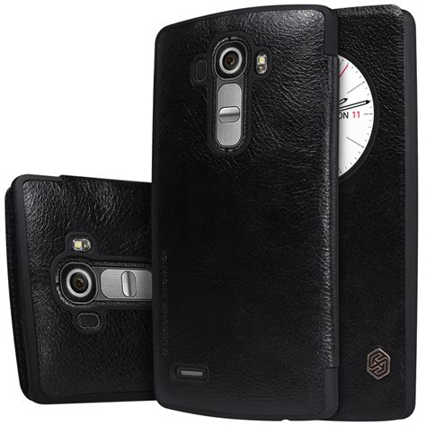 Lg G4 Beat Mini Nillkin Qin Leather Flip Cover Dompet Casing nillkin qin circle leather lg g4 black
