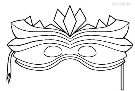 free coloring pages of mardi gras mask