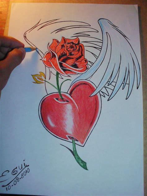 imagenes de corazones y rosas para dibujar imagenes de corazones chidos para dibujar tattoo tattoo