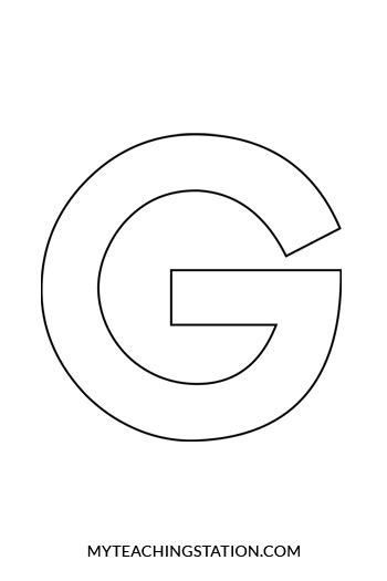 lower case letter g crafts template