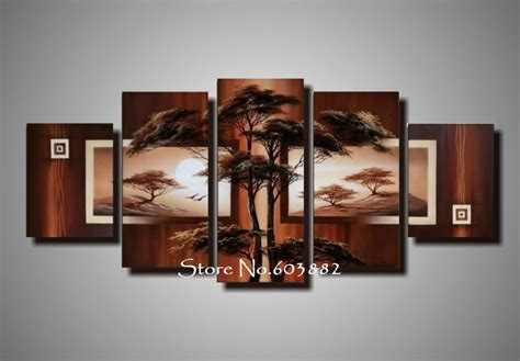 hand painted picture sets 5 panel wall art no framed natural natural scenery 100 hand painted oil wall art 5