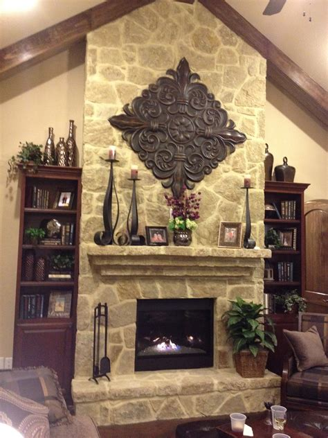 decoration fireplace fireplace mantel decor rustic decor pinterest