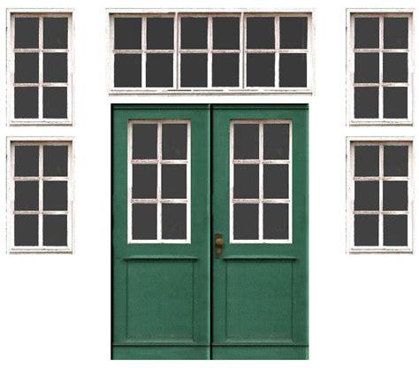printable house windows printable n scale model train set railroad doors free