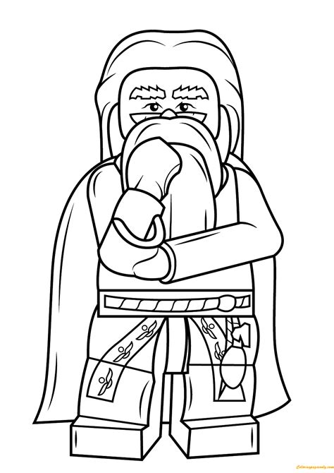 harry potter coloring pages dumbledore lego harry potter albus dumbledore coloring page free