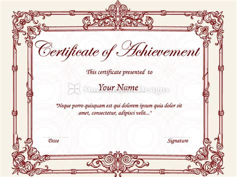 certificate design brushes photoshop photo certificate designs templates images