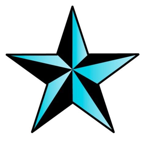 light blue nautical star wall decal by kowalla clipart