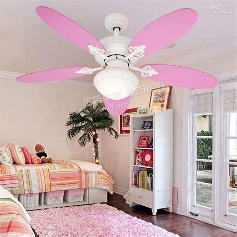 pink ceiling fans  lights  teenage girl bedroom