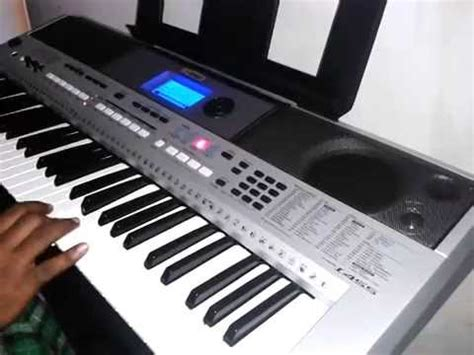 tutorial keyboard yamaha ar rahman song chinna chinna aasai played in keyboard