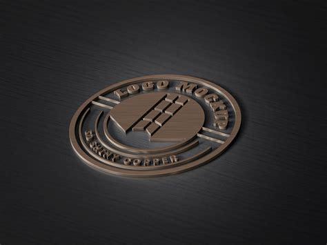 logo mockup psd template 3d copper logo mockup psd template