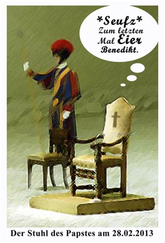 der stuhl der stuhl petri by kunstkai religion toonpool