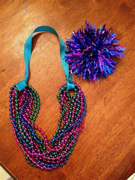 how to make mardi gras diy statement necklace for made with recycled mardi