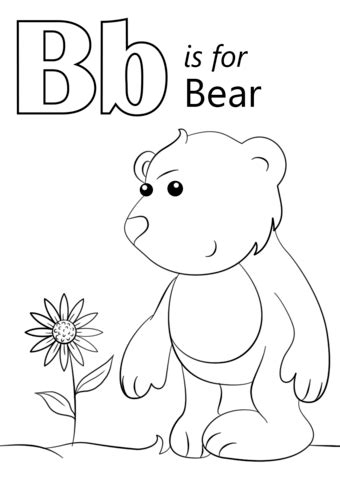 bubba bear coloring page letter b is for bear coloring page free printable