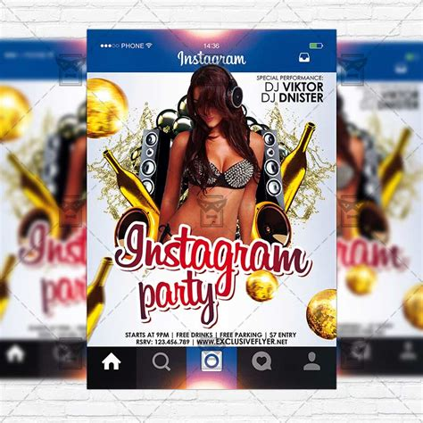 Instagram Party Premium Flyer Template Instagram Size Flyer Exclsiveflyer Free And Instagram Ad Template Psd