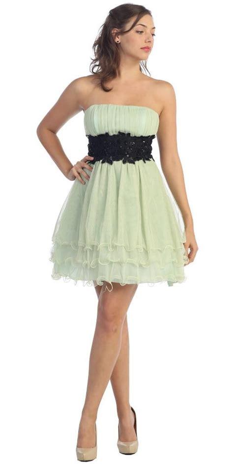 Cto Hem Hosana White white poofy a line dress strapless ruffled hem discountdressshop