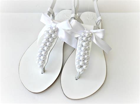 White Wedding Flats by White Flat Wedding Sandals Www Pixshark Images
