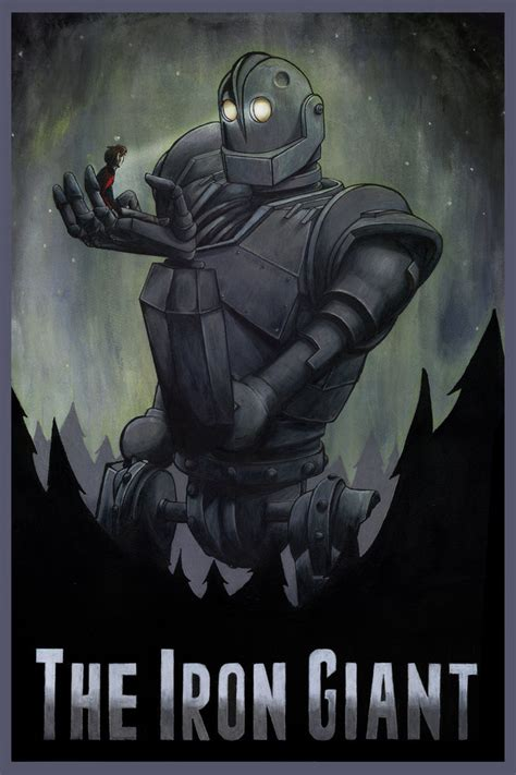 the geeky nerfherder movie poster art the iron giant 1999