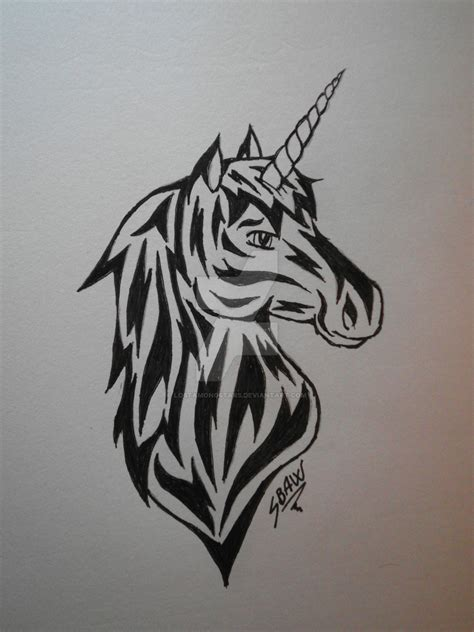 unicorn tattoo design by lostamongstars on deviantart