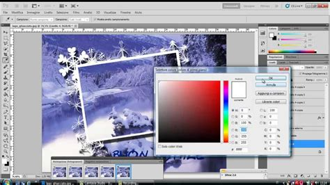 tutorial photoshop neve tutorial photoshop italiano foto su foto neve animata