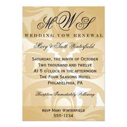 damask monogram wedding vow renewal invitations 5 quot x 7 quot invitation card zazzle