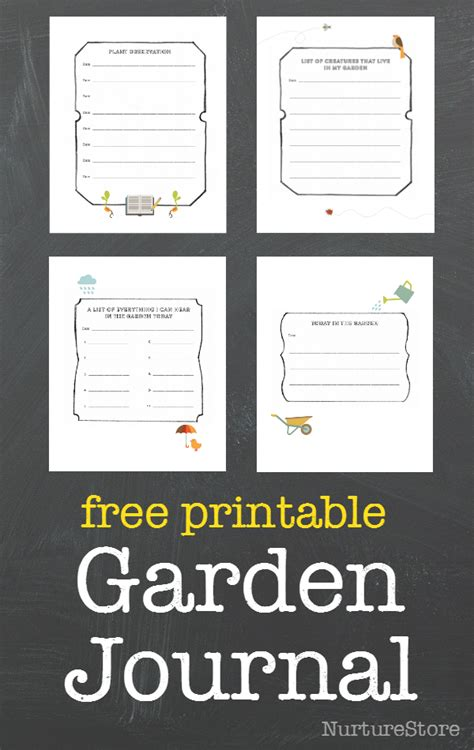 free garden journal printables free homeschool deals