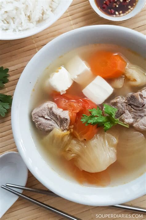 types of vegetable soups salted vegetable soup with tofu and pork ribs souper diaries