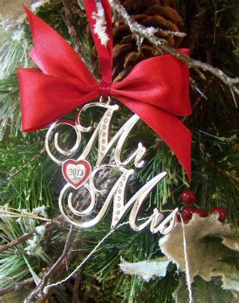 christmas ornament mr and mrs 2013 ornament wedding gift