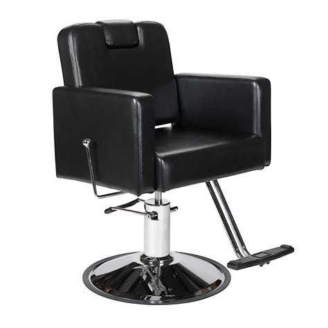 Salon Reclining Styling Chairs by Black All Purpose Reclining Barber Chair Headrest