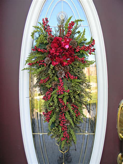 christmas swags for doors teardrop swag door decor pinpoint