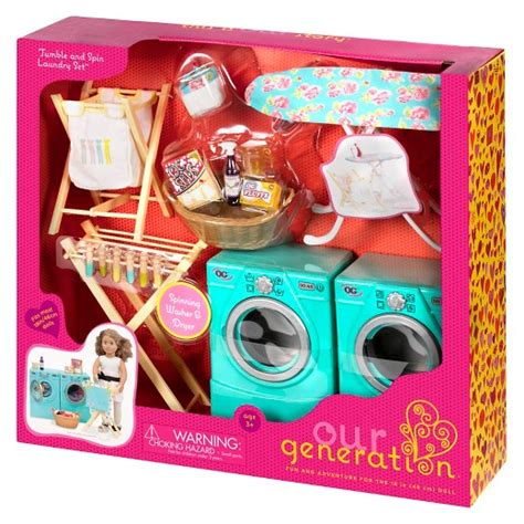 Set Og our generation 174 tumble and spin laundry accessory set target
