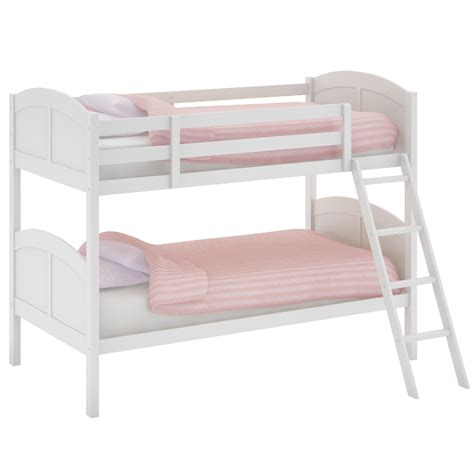 wood bunk bed ladder only corliving concordia white painted solid wood twin single