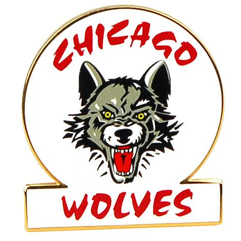 wolves circle logo pin chicago wolves store