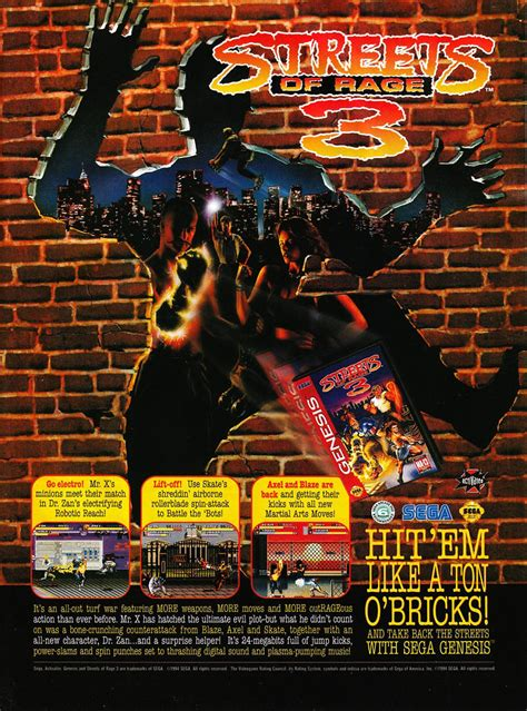 streets of rage 3 genesis streets of rage 3 review sega shin gt systems