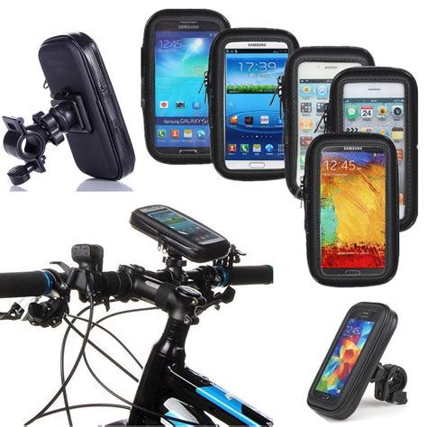 Bicycle Phone Holder 4 Penyanggah One Touch T0210 1 4 7 quot phone bicycle motorcycle handlebar mount holder bag touch screen bike pouch waterproof