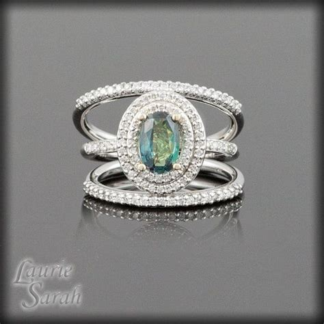 alexandrite white halo ring with