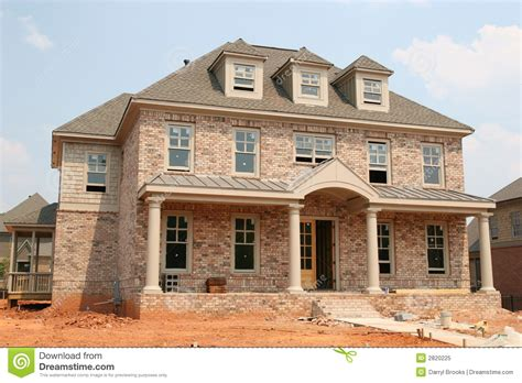 free home builder new brick home construction stock image image 2820225