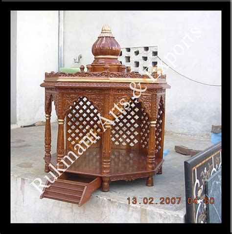 code 14 wooden carved teakwood temple mandir furniture