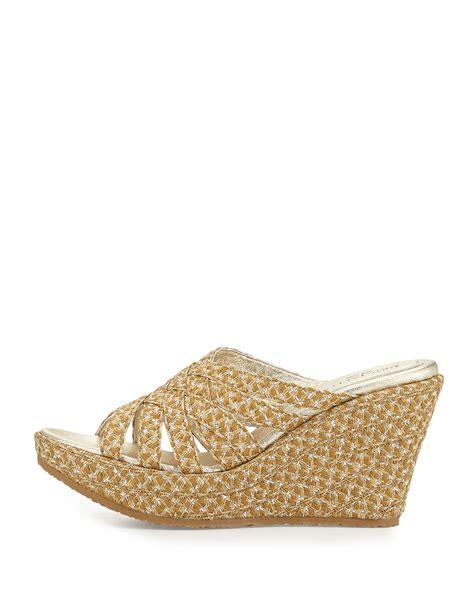 eric javits shoes eric javits edy raffia wedge sandal in lyst