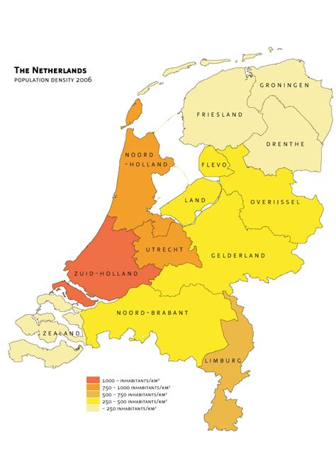 netherlands density map netherlands density map