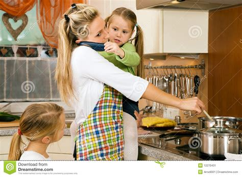 house wife housewife and children having stress stock image image 12270431