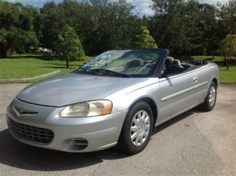 2003 Chrysler Sebring For Sale by Sell Used 2003 Chrysler Sebring Lx Convertible In Vero