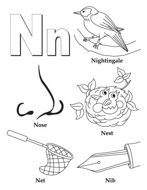 n coloring pages preschool my a to z coloring book letter n coloring page coloring
